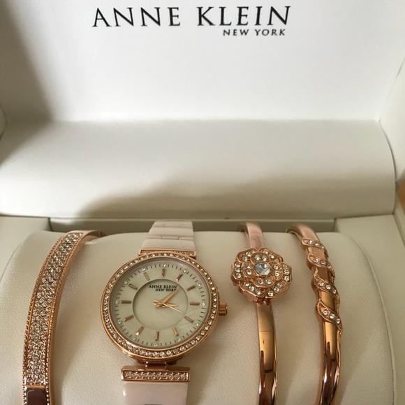 3a921322219 Anne Klein Accessories | Rose Gold Watch And Bracelet Set Nib | Poshmark